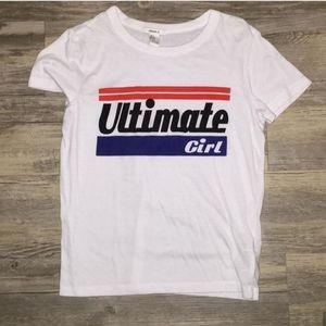 Ultimate girl tee size small